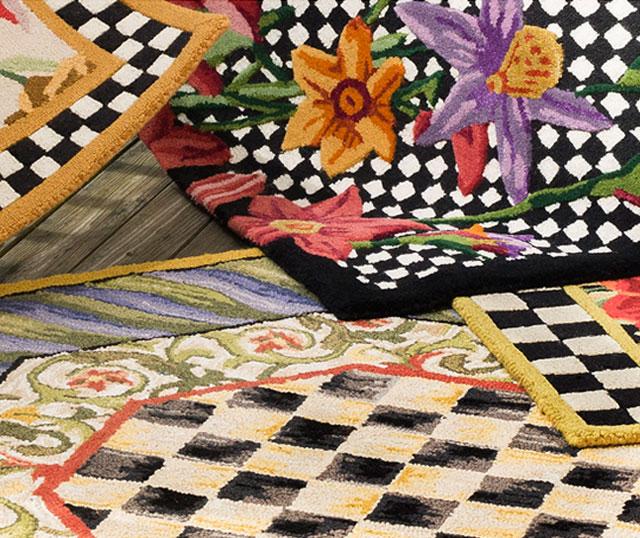 mackenzie childs rugs decor On mackenzie childs fish rug