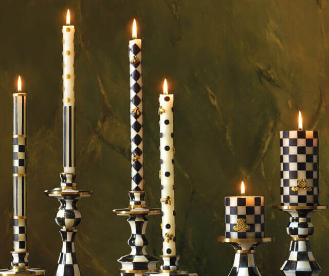 mackenzie childs candles and candle holders decor