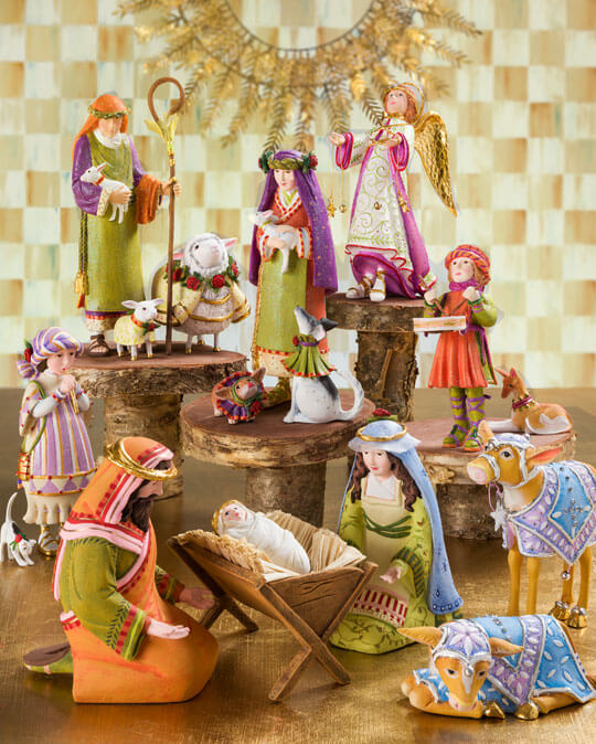 The Nativity collection celebrates the spirit of Christmas with an ever-expanding group of items telling the story of the first Christmas in a colorful and captivating way.