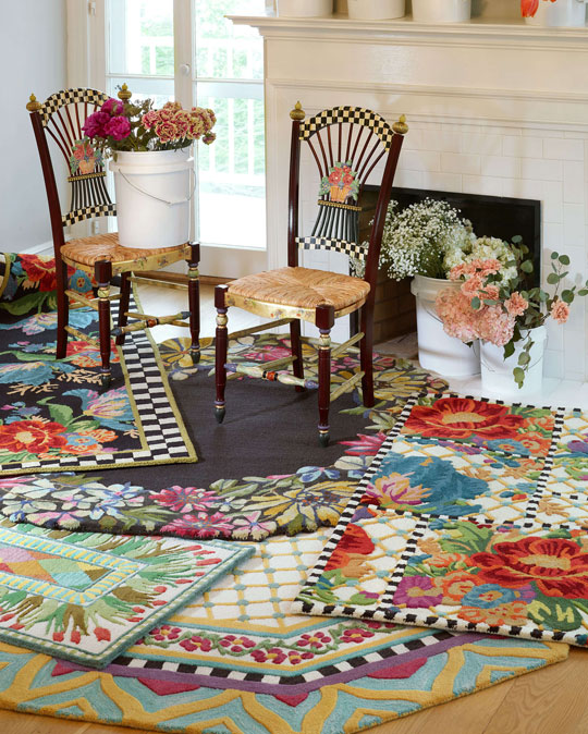If you've ever suspected that your floors might be jealous of the adornments afforded to tabletops, here's the ticket to restoring household peace. Our area rugs are timeless...with a twist.